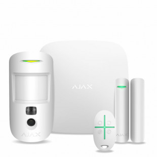 Комплект сигнализации Ajax StarterKit Cam Plus (white)