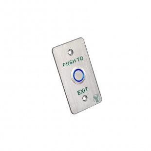 PBK-814B(LED) - Кнопка выхода со световой индикацией (Нержавеющая сталь)