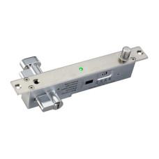 Электроригельный замок YB-500C(LED) со световой индикацией, цилиндром на узкую панель