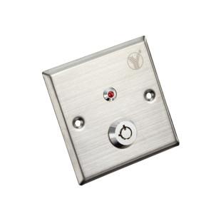 YKS-850LS - Кнопка выхода с ключом (Нержавеющая сталь)