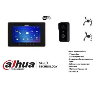 "Комплект Wi-Fi  IP домофона Dahua 1Мп 7"" Base3"