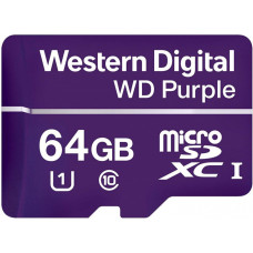 Western Digital Purple MicroSDHC 64GB Class 10 UHS