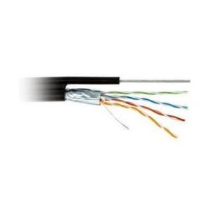 DCG UTP cat 5E 4PR (0,50мм) CCA PE-M B 305м (наружний с троссом, биметал)