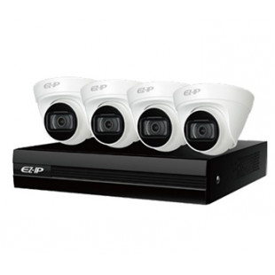 Комплект IP видеонаблюдения Dahua 2Мп EZIP-KIT/NVR1B04HC-4P/E/4-T1B20